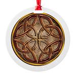 Celtic Knotwork Enamel Round Ornament