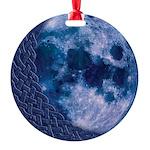 Celtic Blue Moon Round Ornament