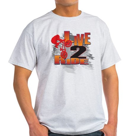 BMX Bike Rider/Live to Ride Light T-Shirt