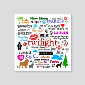 "Twilight Memories Square Sticker 3"" x 3"""