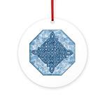 Celtic Diamond Aqua Ornament (Round)