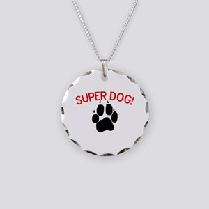 Super Dog! Necklace Circle Charm