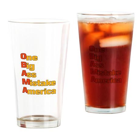 Anti Obama Drinking Glass