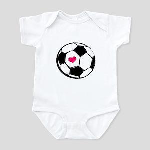 Soccer Heart Infant Bodysuit