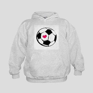 Soccer Heart Kids Hoodie