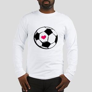 Soccer Heart Long Sleeve T-Shirt