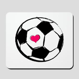 Soccer Heart Mousepad