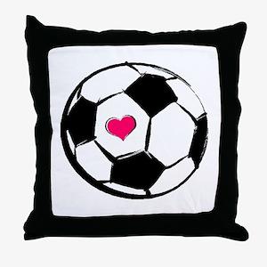 Soccer Heart Throw Pillow