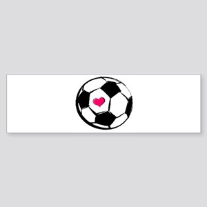 Soccer Heart Bumper Sticker
