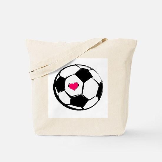 Soccer Heart Tote Bag