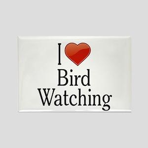I Love Bird Watching Rectangle Magnet