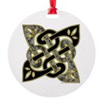 Celtic Dark Sigil Round Ornament