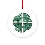 Celtic Four Leaf Clover Ornament (Round)