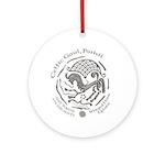 Celtic Epona Coin Ornament (Round)