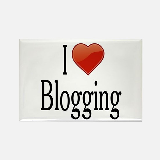 I Love Blogging Rectangle Magnet