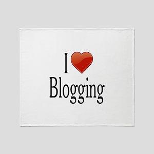 I Love Blogging Throw Blanket