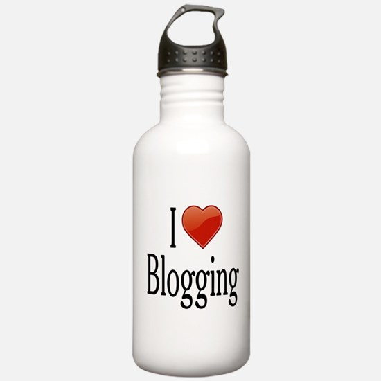 I Love Blogging Water Bottle