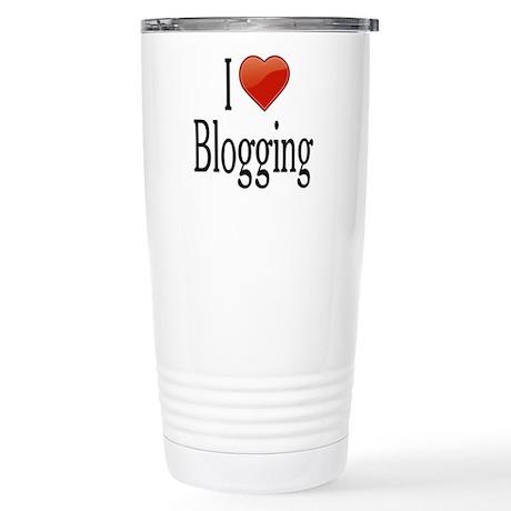 I Love Blogging Stainless Steel Travel Mug