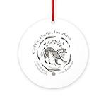 Celtic Lion Coin Ornament (Round)