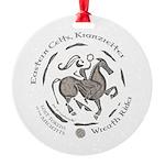 Celtic Wreath Rider Coin Round Ornament