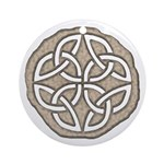 Celtic Knotwork Coin Ornament (Round)