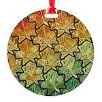 Celtic Leaf Tesselation Round Ornament