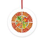 Celtic Autumn Leaves Ornament (Round)