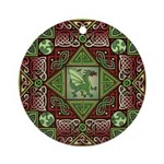 Celtic Dragon Labyrinth Ornament (Round)