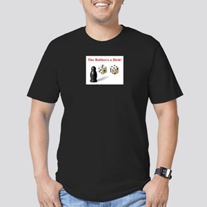 The Robber's a Dick Men's Fitted T-Shirt (dark)