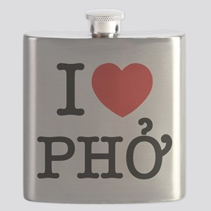 I Love (Heart) Pho Flask