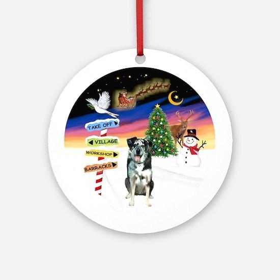 XmasSigns - Catahoula Leopard Dog Ornament (Round)