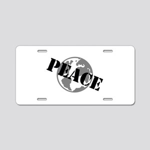 Peace on Earth Aluminum License Plate