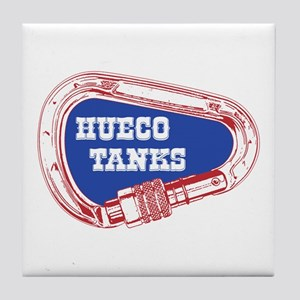 Hueco Tanks Climbing Carabiner Tile Coaster