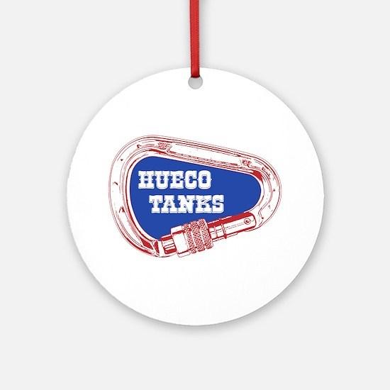 Hueco Tanks Climbing Carabiner Round Ornament