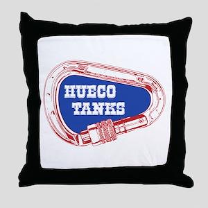 Hueco Tanks Climbing Carabiner Throw Pillow