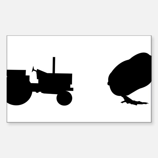 Tractor Chick Sticker (Rectangle)