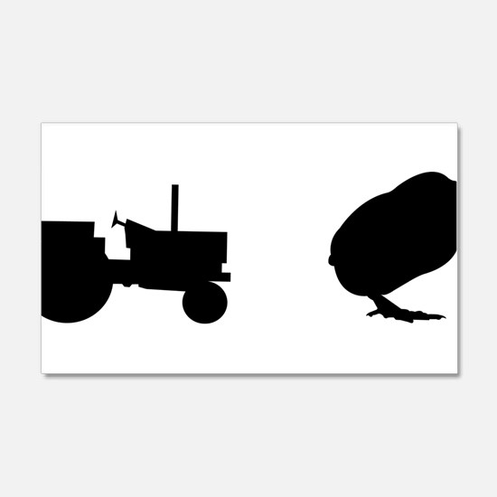 Tractor Chick Wall Decal