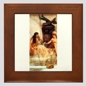 Alma-Tadema - Strigils & Sponges Framed Tile