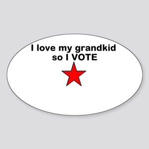 I love my grandkid so I Vote with red star Sticker