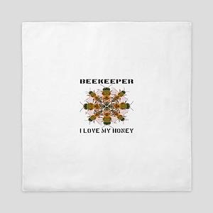 Beekeeper I Love My Honey Queen Duvet