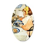 Breakfast Buddies Oval Car Magnet