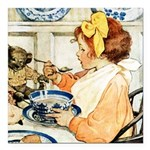 Breakfast Buddies Square Car Magnet 3