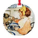 Breakfast Buddies Round Ornament