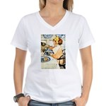 Breakfast Buddies Women's V-Neck T-Shirt