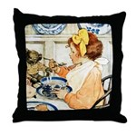 Breakfast Buddies Throw Pillow