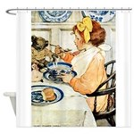Breakfast Buddies Shower Curtain