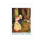Babes In The Wood Sticker (Rectangle)