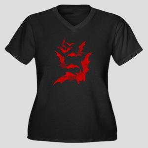 Vintage, Bats Plus Size T-Shirt