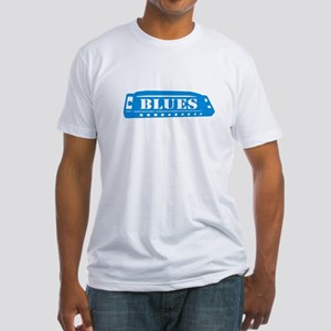 Blues Harmonica Fitted T-Shirt