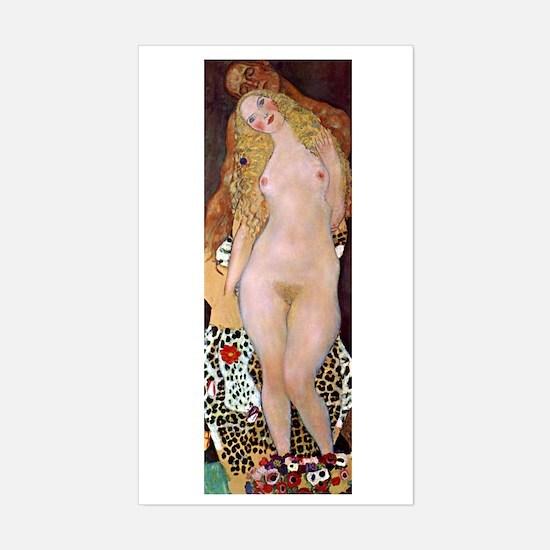 Klimt - Adam & Eve Sticker (Rectangle)